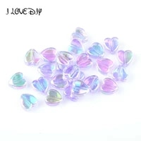 200pcs pack 8x4mm ab color heart spacers acrylic beads for jewelry making needlework wholesale diy bracelet accessories making