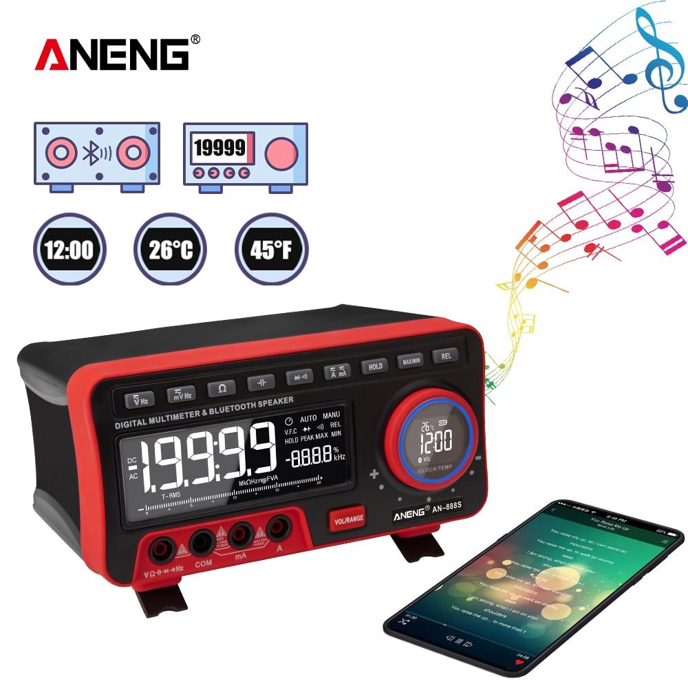 ANENG-multímetro Digital Profesional an88s, probador de transistores de 19999 recuentos, voltímetro de...