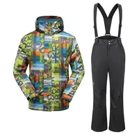 goexplore ski suit men snowboard jacket and straps pants male thicken warm sport winter waterproof snow sets sportswear