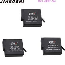 3Pcs AHDBT-501 Li-ion Battery for GoPro AHDBT501 2018 Hero 5 GoPro Hero 6/7 Camera Battery for gopro 5 6 7 Battery Accessories