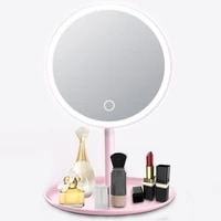 usb rechargeable led adjustable daylight cosmetic makeup mirror desktop lamp smart fill light beauty dormitory make up mirror