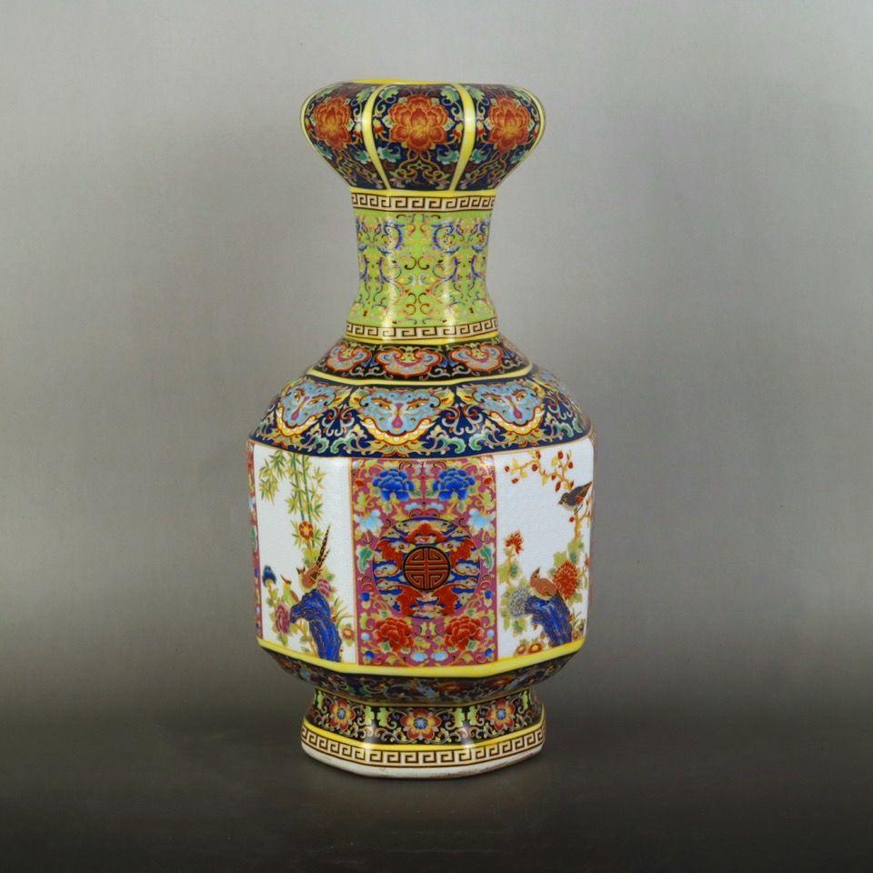 25cm Jingdezhen Ceramic Vase Home Decor Creative Design Porcelain Decorative Flower Vase For Wedding  Christmas Gift