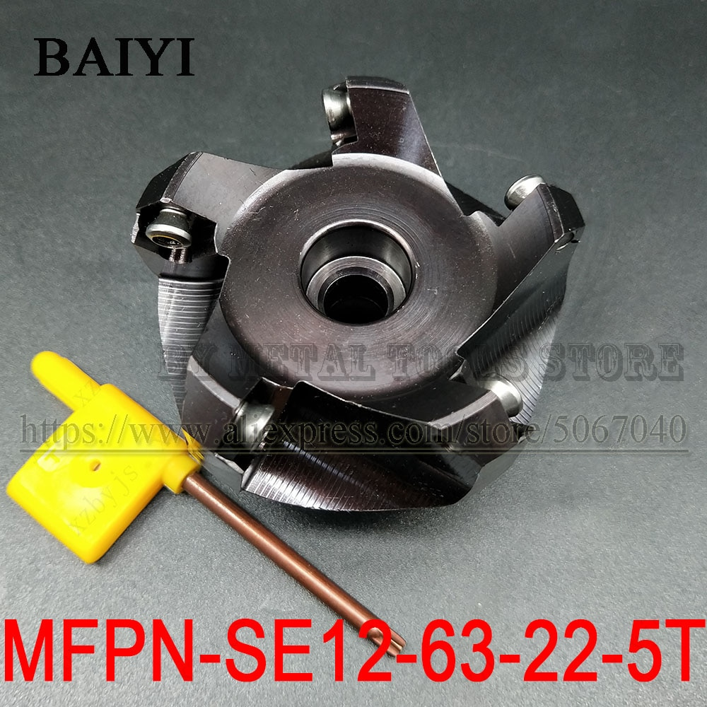MFPN-SE12-63-22-5T MFPN SE12-63-22 5 الناي الوجه قاطعة المطحنة تحول أدوات التصنيع باستخدام الحاسب الآلي طحن المعادن لإدراج طحن SEKT1204