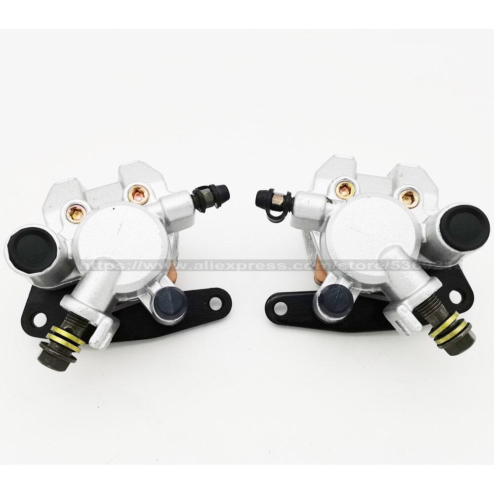 Front Brake Caliper Set for Yamaha Grizzly 450 660 Kodiak 400 Wolverine 350 450 YFM450 YFM660 YFM350 YFM400 with Pads