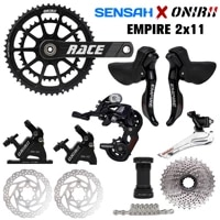 sensah empire 2x11 speed road bicycle groupset shifter rear derailleur onirii crank hydraulic disc brake ultegra r7000 r8000 new