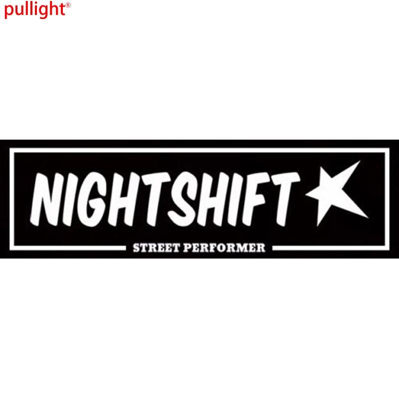NightShift street performer box slap sticker JDM car stance window bumper decal.