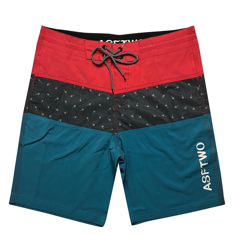 Plus Size mężczyźni drukowane paski spodenki plażowe stroje kąpielowe szybkie suche szorty do biegania spodenki sportowe męskie bandaż stroje kąpielowe Boardshorts