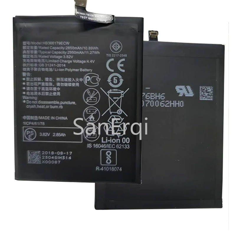 Batería de teléfono 4000mAh Huawei HB366179ECW para Nova 2, batería de repuesto de alta calidad, batería recargable