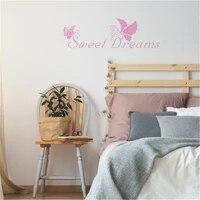 Autocollant Mural amovible en vinyle  motif papillon de beaute  doux reves  pour salon chambre a coucher  decoration murale  Art Mural etanche  ov599
