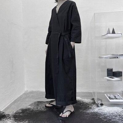 Новый летний образ, сдержанный Темный самурайский комбинезон 2020