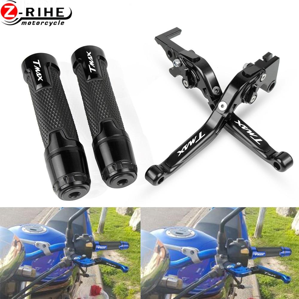 Accesorios para motocicleta para YAMAHA TMAX 500 2001 2002 2003 2004 2005 2006 2007, palancas de embrague de freno extensibles, piezas para manillar