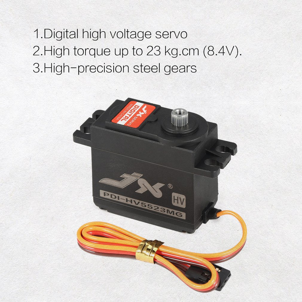JX PDI-HV5523 HV High Voltage Metal Gear Digital Core Servo with 23kg High Torque for RC Car Robot Airplane Aircraft Drone Parts enlarge