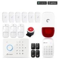 Kit de systeme dalarme de securite domestique sans fil  S3B  controle a distance  auto-numerotation  GSM  application IOS Android