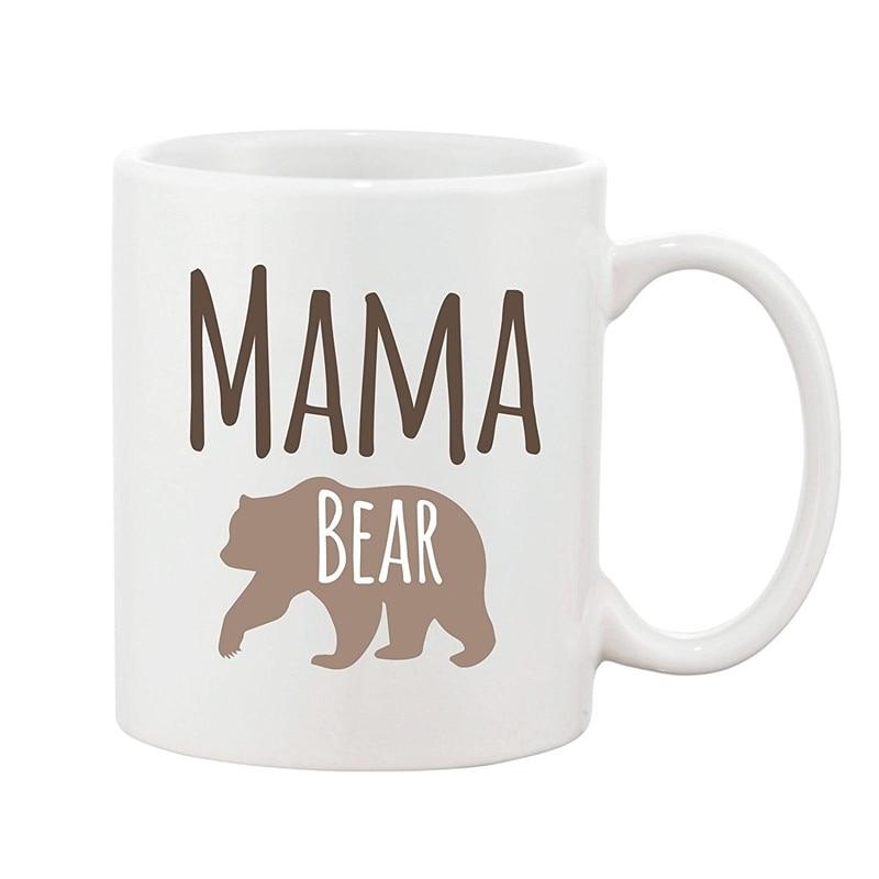 Mama Bear Mug Mothers Day Mum Present Novelty Gift Ceramic Coffee Cup 11oz