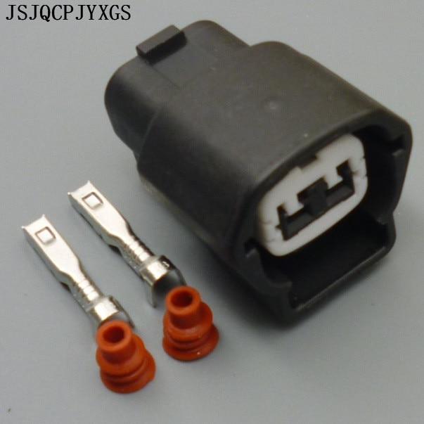 JJSJQCPJYXGS 2 Pin hembra automotriz ECT conector de agua del motor Sensor de temperatura para Nissan para Hyundai 6189-0772