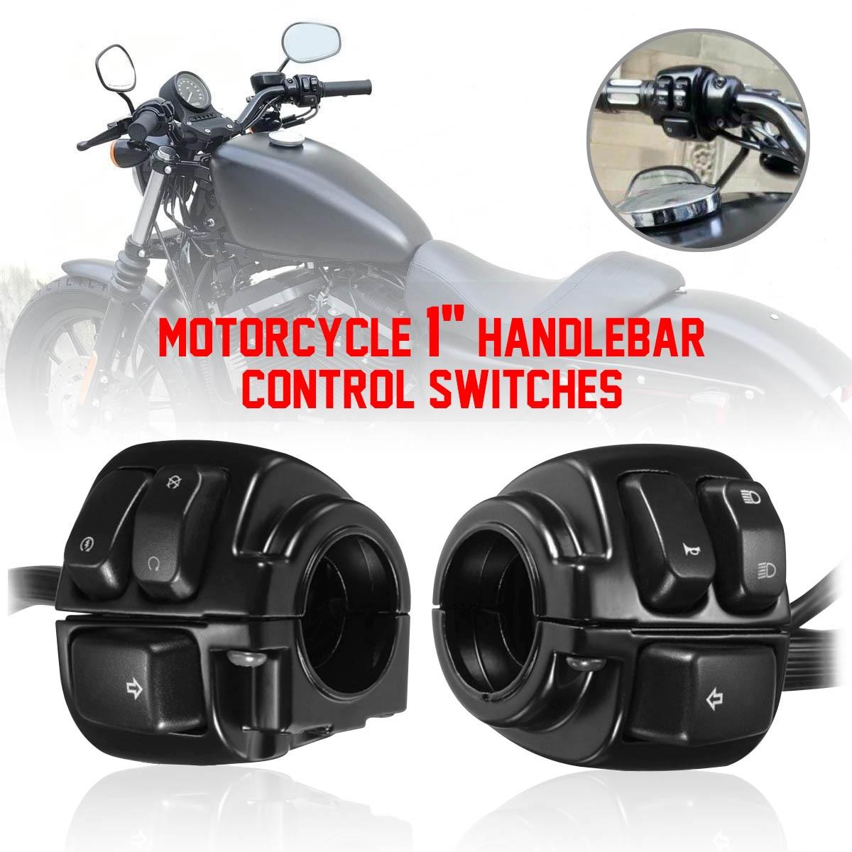 "Motocicleta 1 ""25mm interruptor Control manillar de cláxon, de intermitente para Harley Dyna Softail Sportster 883, 1200, 1996-2012"