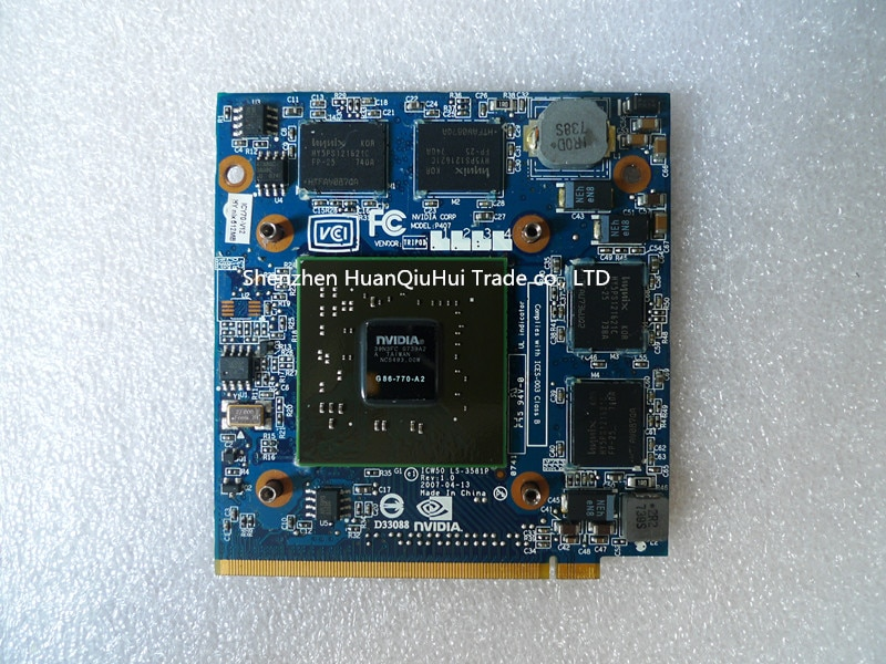 Para nVidia para GeForce 8600M G MXM IDDR2 512MB mal gráficos tarjeta...