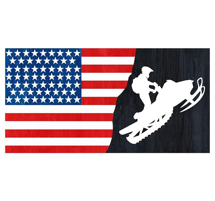 alain caron canada michael abene usa free  shipping  xvggdg  90x150cm  usa  flag Banner   Snowmobile USA   Flag  National flag Canada Decoration banner