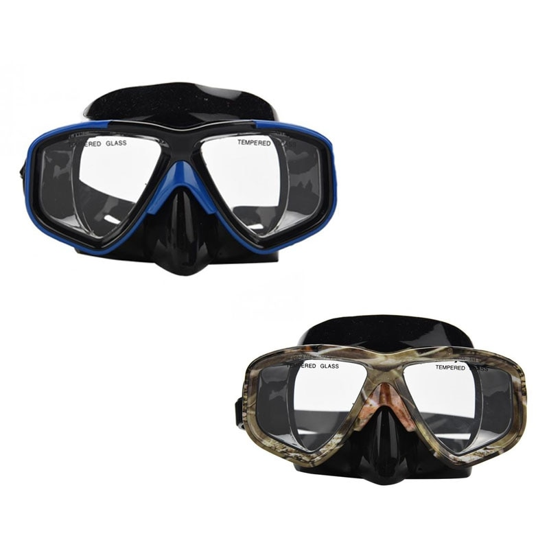 Máscara Yon Sub 2 uds máscara de buceo profesional Snorkel gafas antiniebla conjunto de gafas Protector de ojos azul y camuflaje