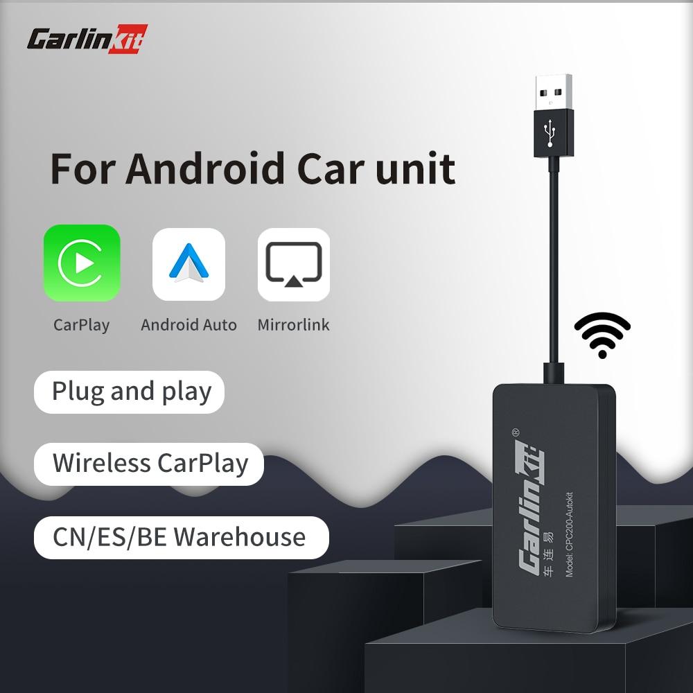 Carlinkit سيارة مشغل وسائط متعددة لاسلكية CarPlay دونغل أندرويد السيارات محول ل أندرويد المضيف بلوتوث جهاز استقبال واي فاي راديو السيارة