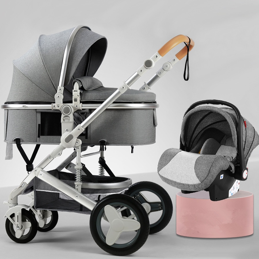High Landscape Baby Stroller 3 in 1 With Car Seat and Stroller Luxury Infant Stroller Set Newborn Baby Car Seat Trolley 8 Gifts enlarge