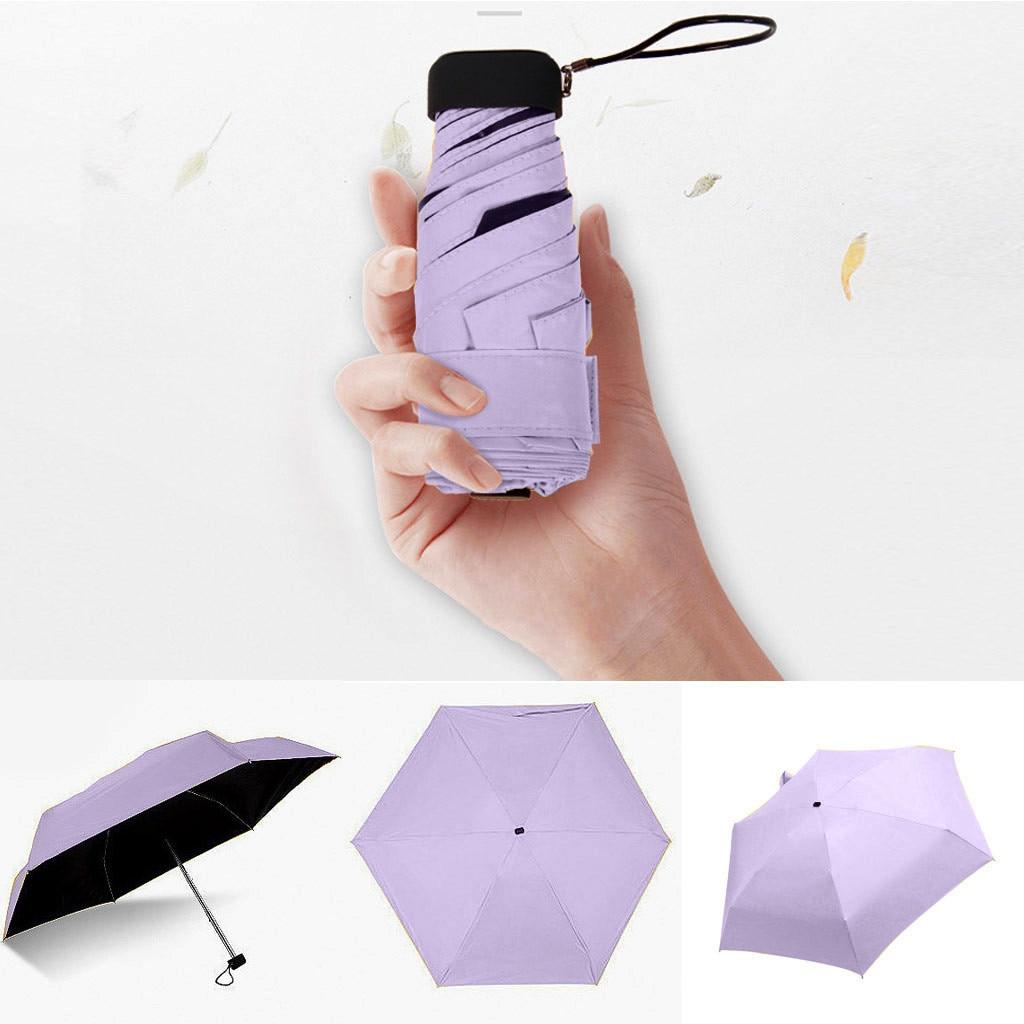 Small Fashion Folding Umbrella Rain Women Gift Men Mini Pocket Parasol Girls Anti-UV Waterproof Port