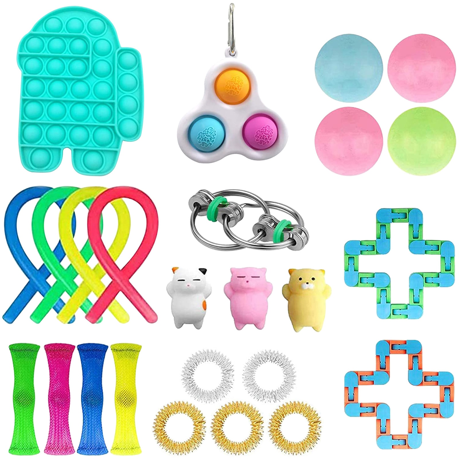 25PCS Toy Set Cheap Sensory Toys Pack for Kids or Adults Figetget Toys Pack Figit Toys Set Edc Stress Relief Push Bubble Fidget enlarge
