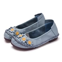 designer shoes women loafers genuine leather flats woman loafers oxford shoes woman 2020 flower ladies shoes