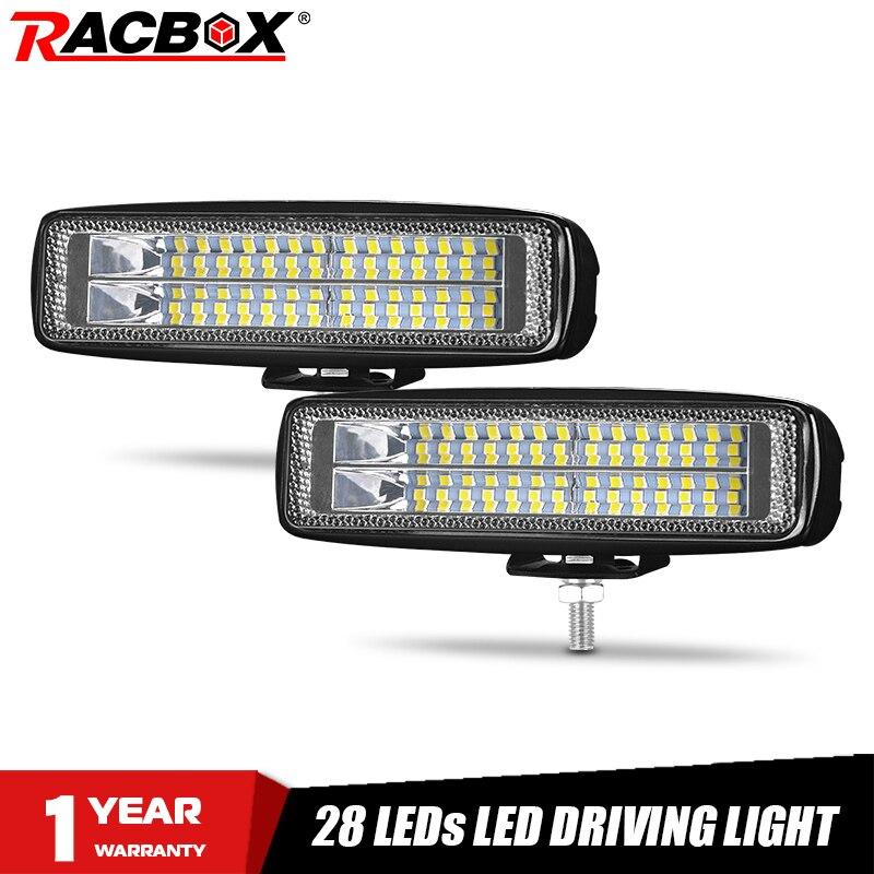 "6"" car Dual row LED Work Light Bar wide flood beam LED Light Day Running light 12V fog lamp 4WD for Jeep Truck boat Offroad ATV"