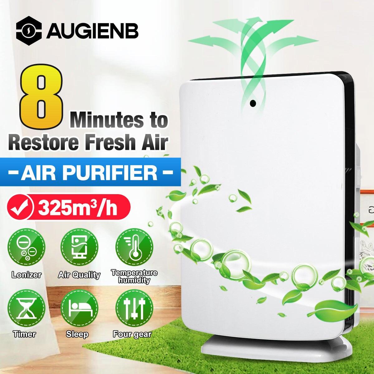 Домашний офисный очиститель воздуха AUGIENB, фильтр HEPA, средство для удаления запахов и аллергических запахов, пыльца, дуршлаг для домашних жив...