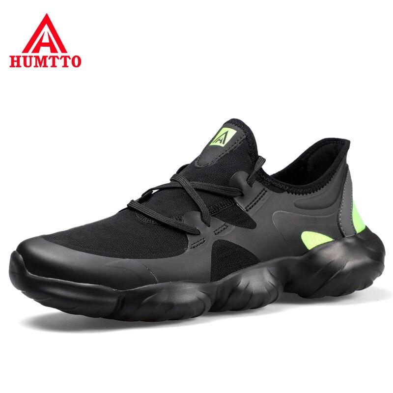 Zapatillas de diseñador ligero de moda con cordones Primavera Verano negro caminar Hombre Zapatos transpirables para hombre Casual tamaño grande 36-46