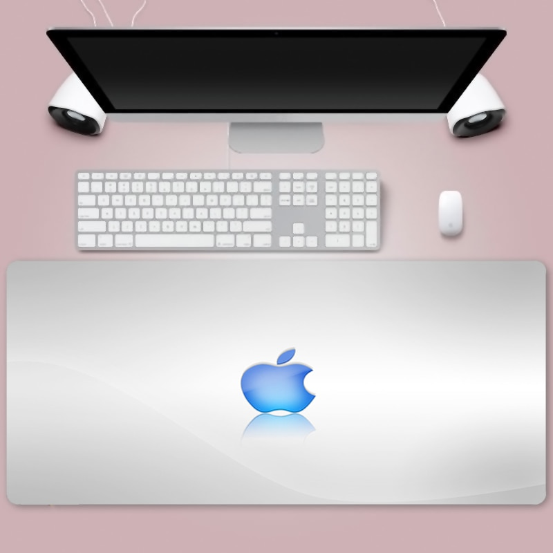 Apple Logo Mouse Pad Extra Large Big Computer Gaming Mousepad Anti-slip Natural Rubber with Locking Edge Gaming Mouse Mat