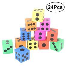 24 pièces jouant jeu de dés jouant jouet Jumbo mousse fête faveur cadeau prix jouet éducatif pour les enfants