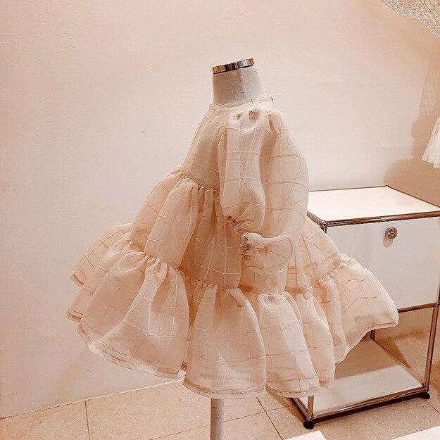 Vestido de gasa para bebé de primavera y otoño para niñas vestido de princesa para Bebé Vestidos para niñas pequeñas