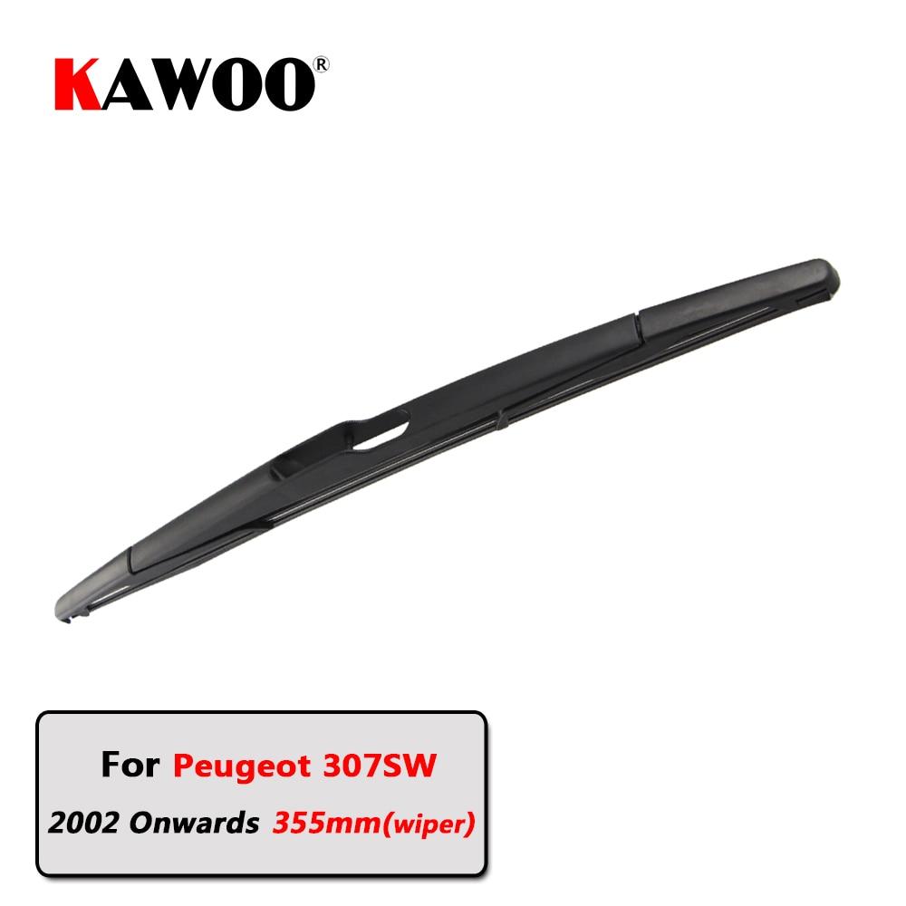 KAWOO Car Rear Wiper Blade Blades Back Window Wipers Arm For Peugeot 307SW Hatchback (2002 Onwards) 355mm Auto Windscreen Blade