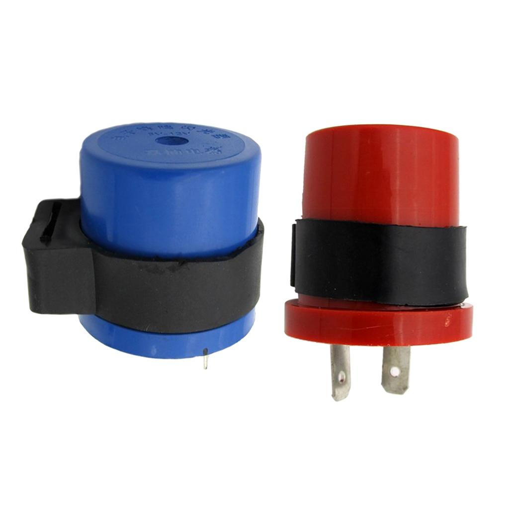 2Pin 6-12v Indicator Flasher Buzzer Relay Motorcycle Blinker Electronic