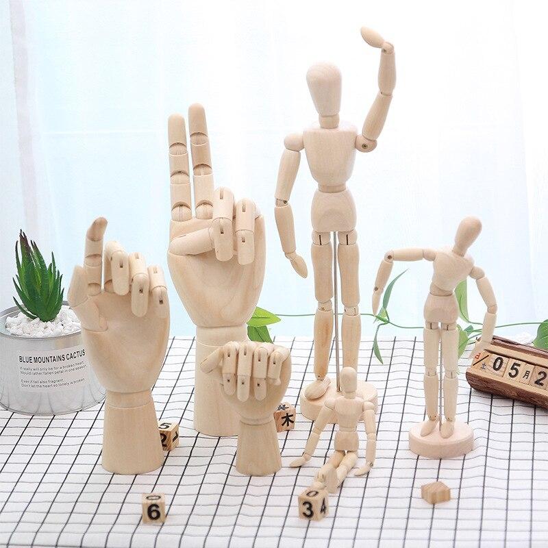 Statue de Mannequin en bois modèle dessin   Décoration de maison, Mannequin naturel articulé à la main, marionnette daction, dessin de figurine, sculpture