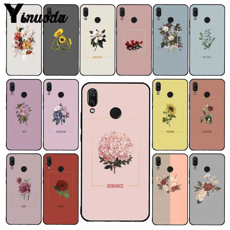 Yinuoda pasión flor funda de teléfono para Xiaomi Redmi Note 7 8T Redmi 5plus 6A Note8 4X Note8Pro