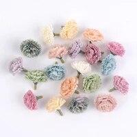 Mini tetes de fleurs en soie  10 pieces lot  fausses fleurs  pour decoration de mariage  maison  salon  bricolage  couronne de coiffure  scrapbook