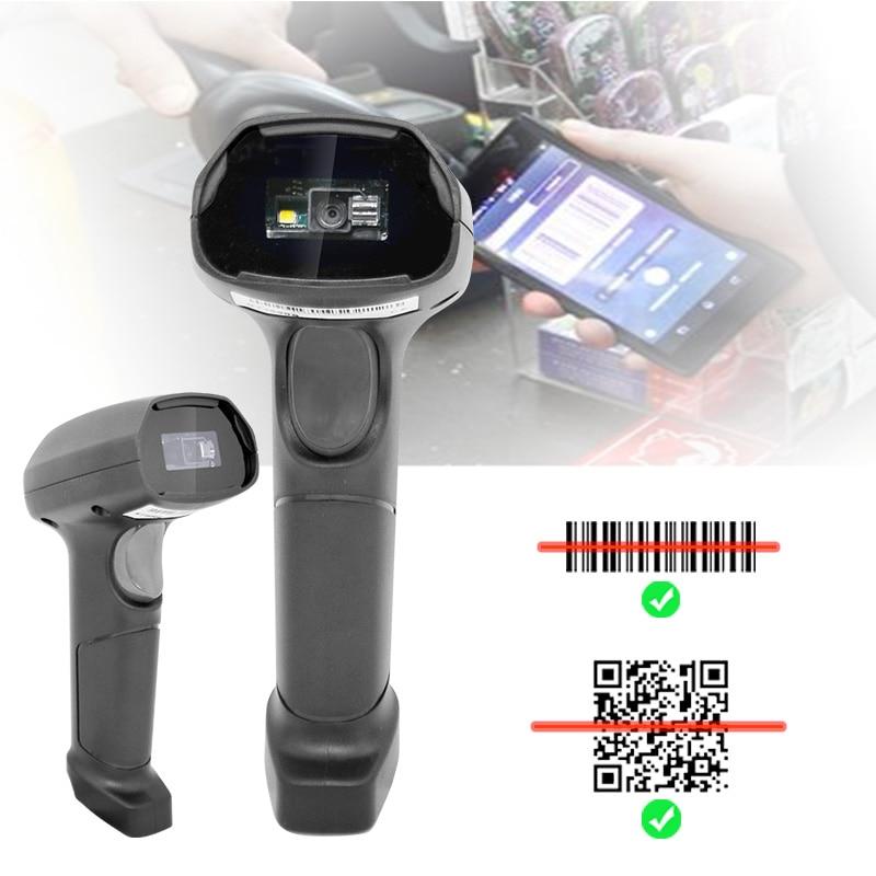 HD-10 يده 1D 2D QR الباركود الماسح الضوئي USB السلكية قارئ الباركود للمتجر سوبر ماركت نظام نقاط البيع الدفع المحمول