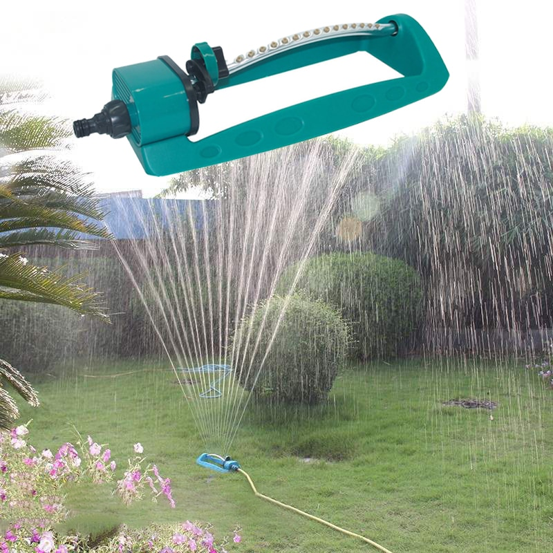 Automatic Garden Sprinklers 15 Hole Swing Plastic Stainless steel Tube Garden Lawn Sprinkler 2 Side Coverage Forestry Irrigation