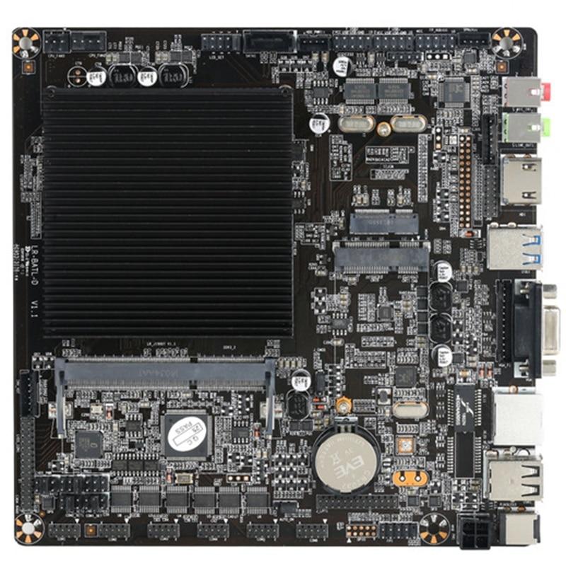 Ppyy novo-processador intel celeron j1900l1 desktop pc mini itx placa-mãe com um suporte lan ddr3l so-dimm