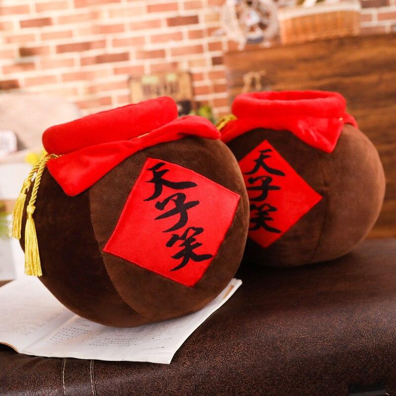 El Gran Maestro de la felpa demoniaca almohada de juguete Mo Dao Zhi Wei WuXian tarro de vino almohada de peluche Anime alrededor