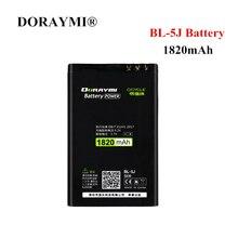 DORYAMI 1820mAh BL-5J Battery for Nokia 5230 5800 5233 5228 5235 Lumia 520 525 530 XpressMusic N900 C3 Replacement BL5J Bateria