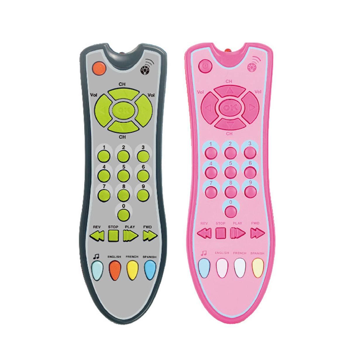 Control remoto del bebé juguete de aprendizaje de luz de música remoto para bebé clic conteo de juguetes remotos para niño niña niño juguete