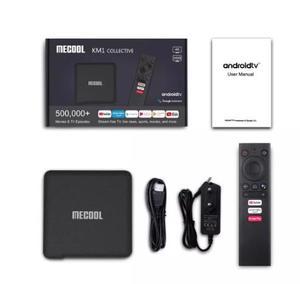 Image 5 - ТВ приставка Mecool с сертификатом Google, Android 10,0, KM1, Amlogic S905X3, Android 10, ATV, 2T2R, 4K, двойной Wi Fi, умный медиаплеер Android TV