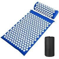 massage mat pillow set applicator for neck foot yoga mat with needle back massager cushion pad