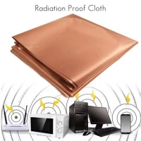 300110cm antimagnetic cloth 1m emf copper shielding fabric blocking rfid radiation singal wifi emi emp anti scanning rfid