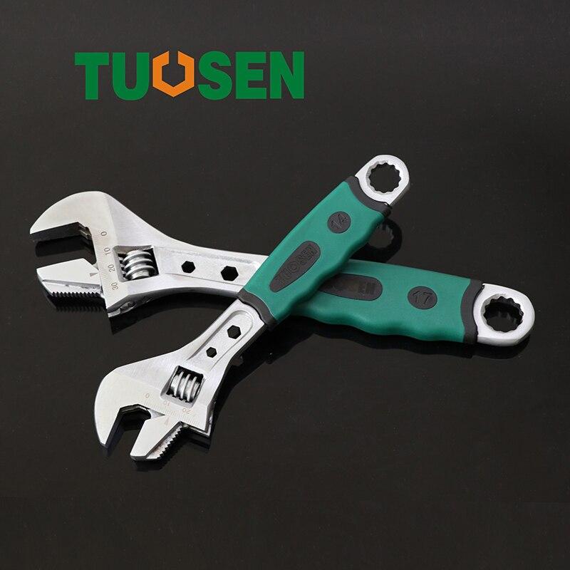 Adjustable Spanner 17mm Wrench Steeksleutel Torque Moersleutel Multi Tool Momentsleutel Scale Plum Blossom Hexagonal Opening