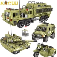 military heavy duty truck building blocks diy motorcycle helicopters tank blocks assemble educational figures toys gifts